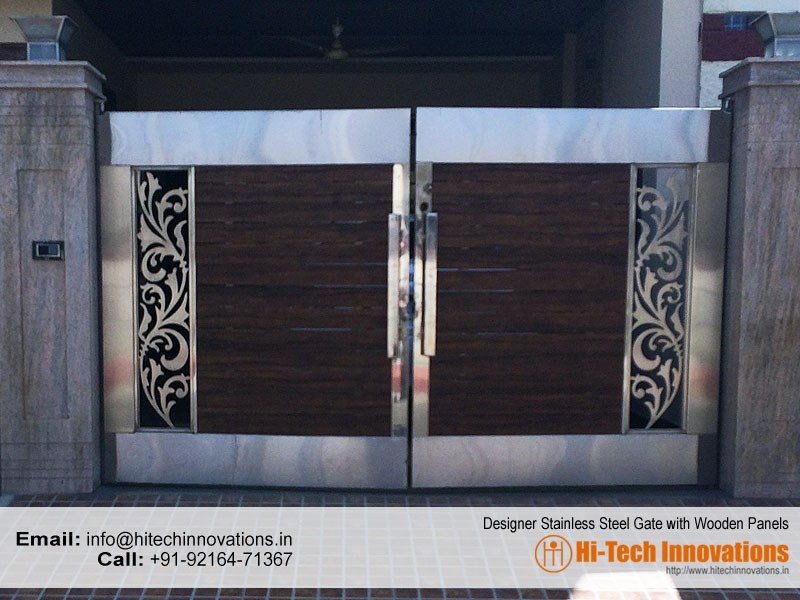 Stainless steel gates manufacturer in chandigarh mohali ludhiana designer steel gate 327 2017a workwithnaturefo