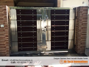 Steel Gate with Wooden Panel (CODE 0327-2017C)