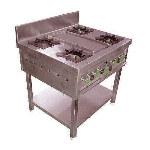 Four Burner Range HTI-FBR-001
