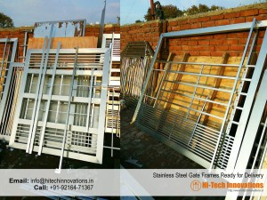 Stainless Steel Gate Frames Ready For Delivery at our factory