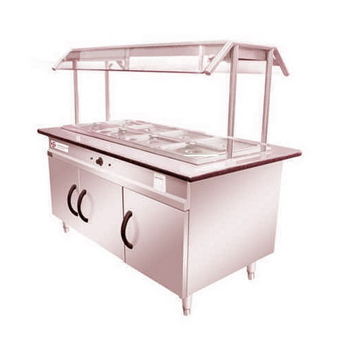 Stainless Steel Salad Counter-HTI-SSSC-001