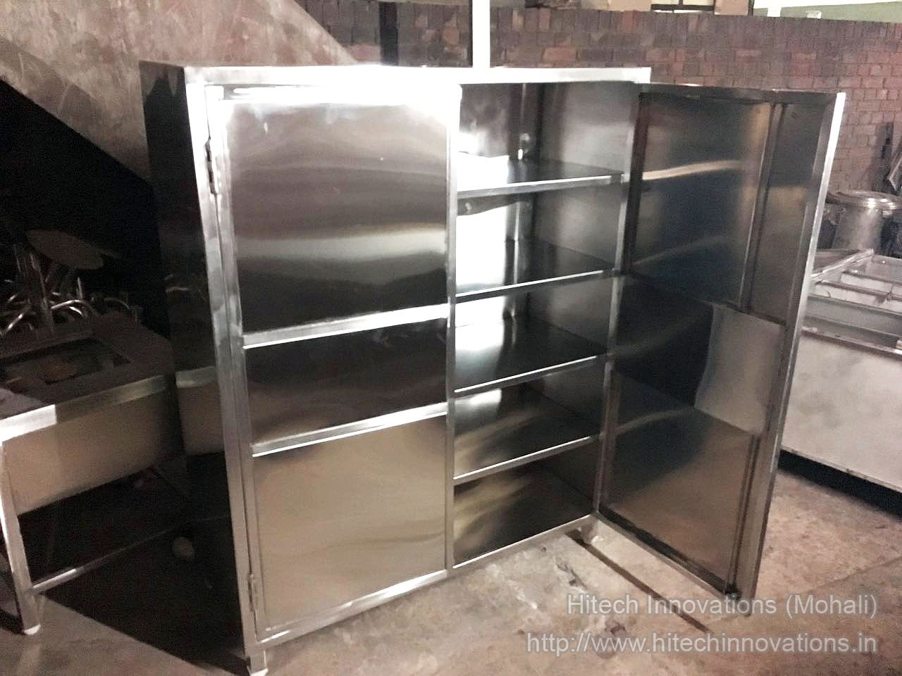 Steel Cabinet for Commercial Kitchen at our Workshop