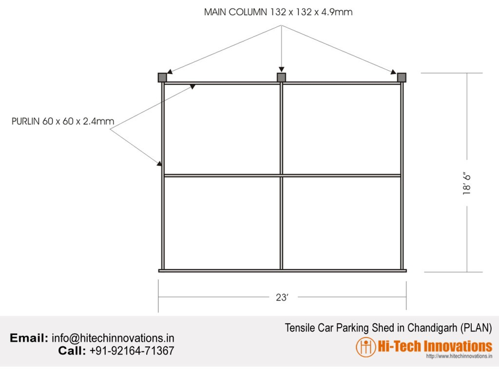 Tensile-car-shed-plan
