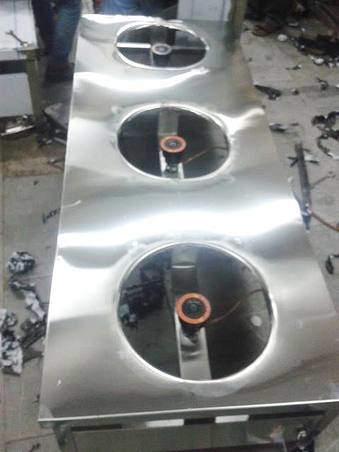 Three Burner Range Being Made