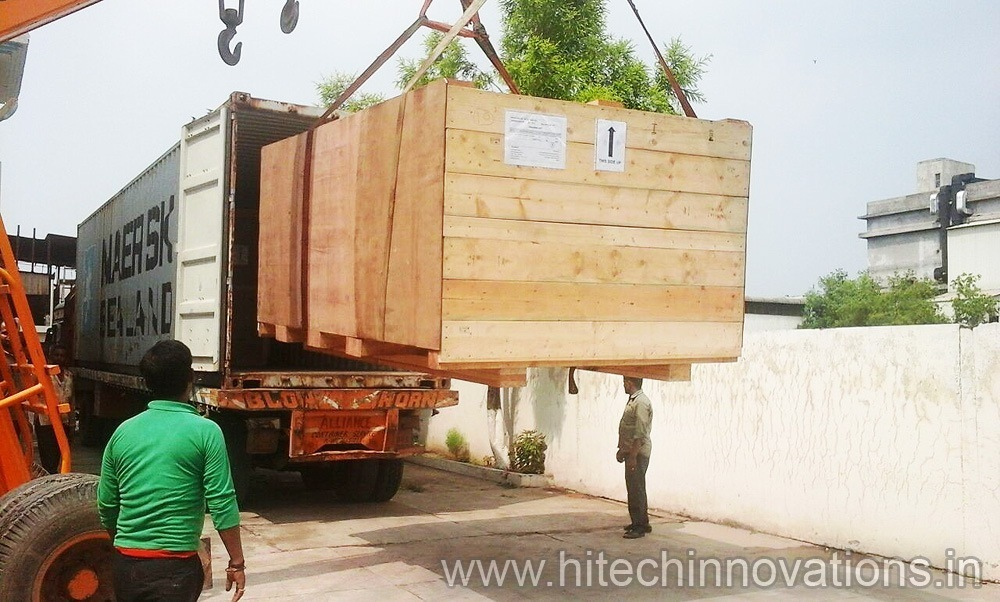 Wooden Shipping Crates Transit Packing Cases Boxes Loaded On Truck