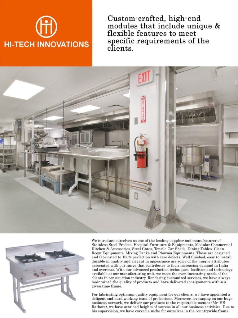 Commercial Kitchens and Kitchen Equipment Manufacturer | Hitech ...