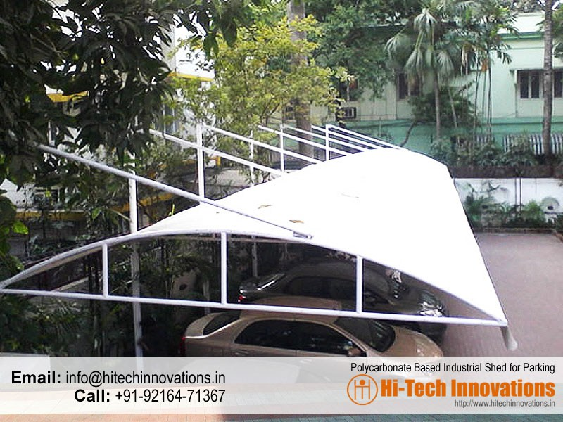 Polycarbonate Based Industrial Car Parking Shed – Multiwall Cantilever Type – HI-IND002
