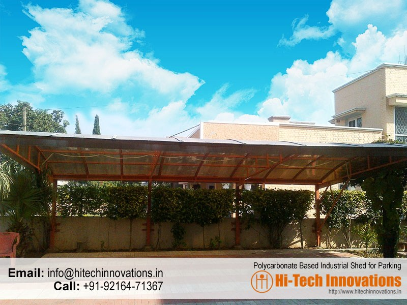 Polycarbonate Based Industrial Car Parking Shed – Multiwall Cantilever Type – HI-IND001