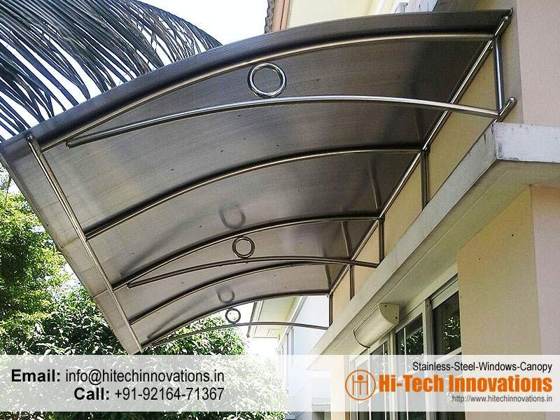 Stainless Steel Windows Canopy Shed – 001WC