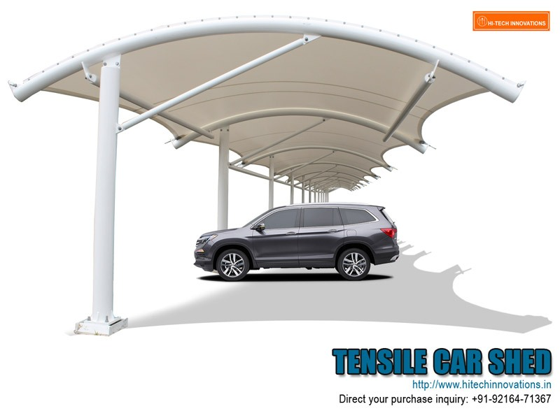 Tensile car shed for multiple cars