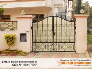 Wrought Iron Gate with Polycarbonate Sheet – HI-WRT001