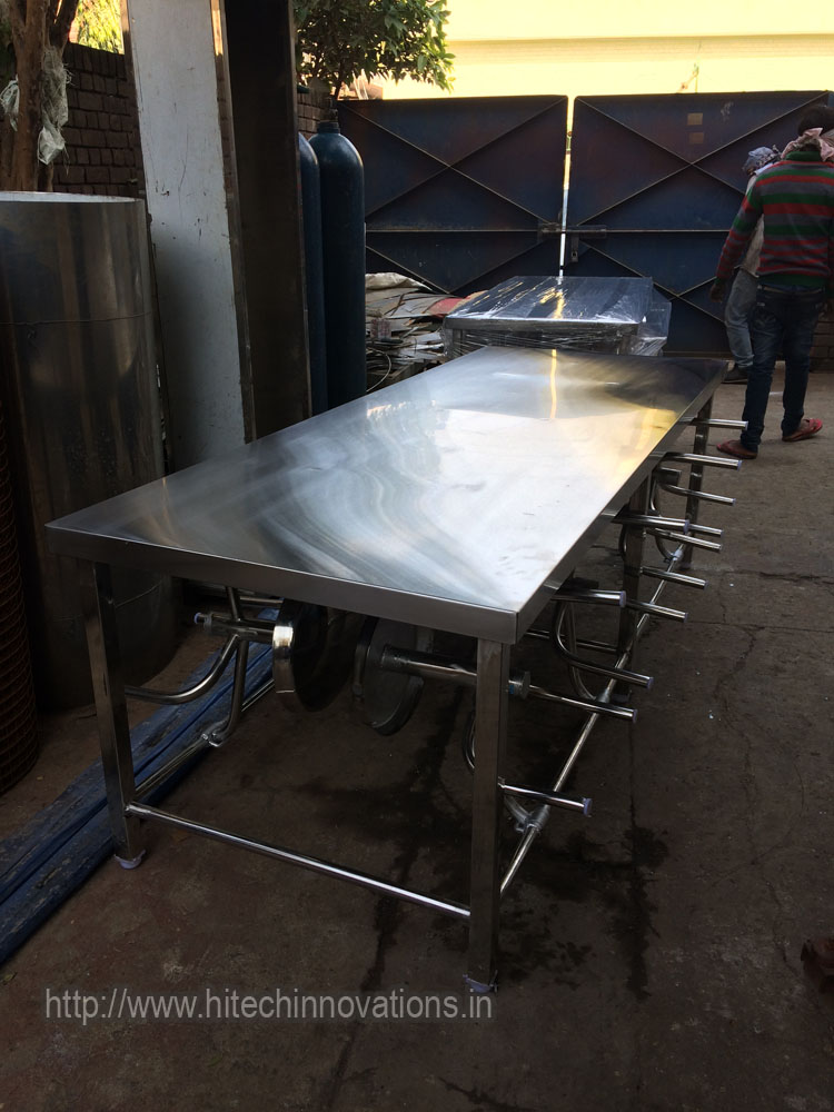 Beautiful Stainless Steel Canteen Table Ready for Delivery