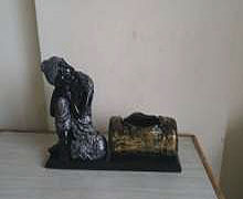 "Budha with Planter Log (L:15"", H:8"", W:4.5"") @ INR  560"