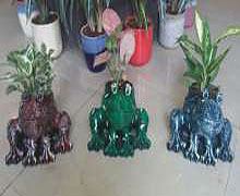 "Frog Planter (L:11"", H:8"", W:9"") INR @ 560"