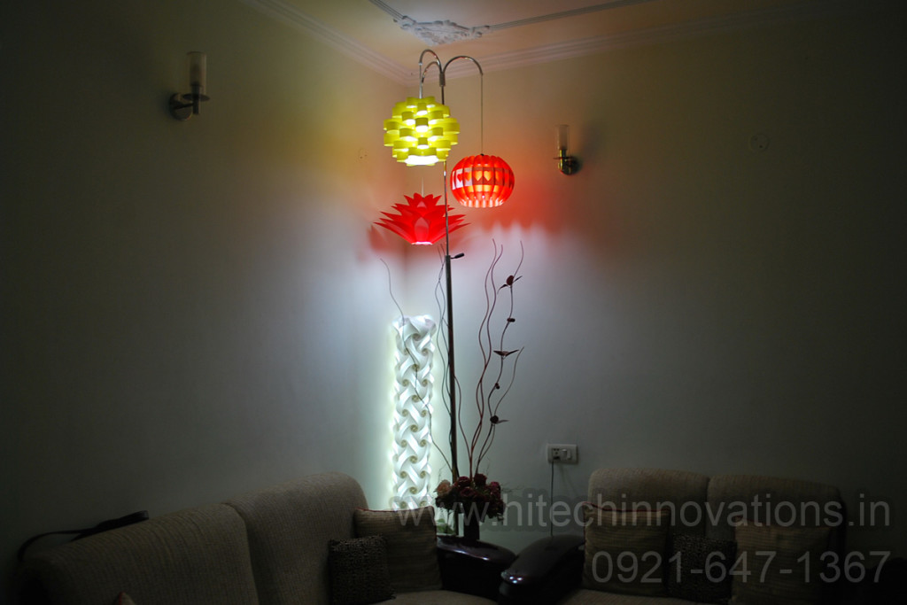 Jigsaw Lamp Shade of Three - HTI-LAMP-004