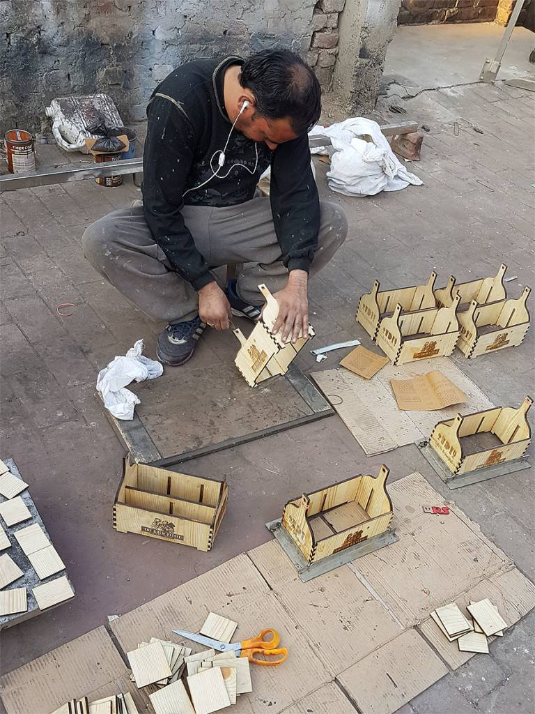 Manufacturing Wooden Caddies at our Factory