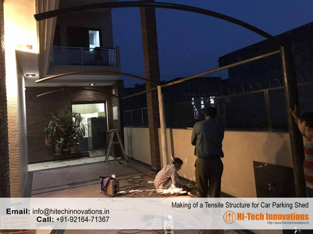 Making of Tensile Structure in Chandigarh for Car Parking Shed