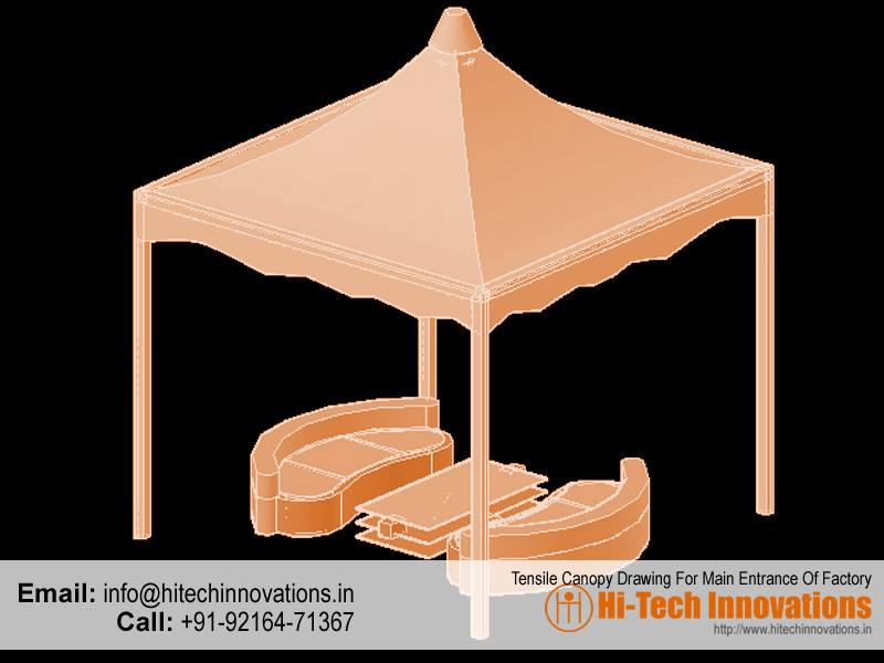 10ft x 10ft Tensile structure canopy
