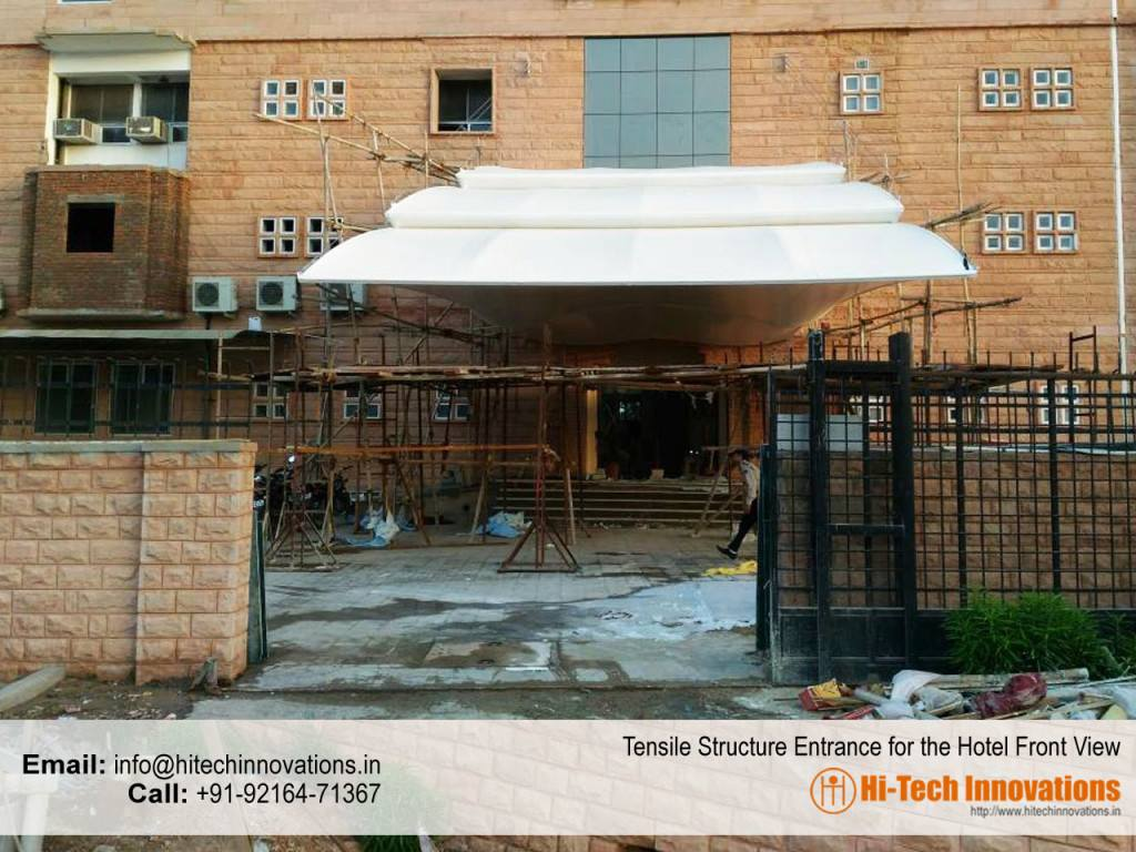 Completed Tensile Structure for Entrance Front View