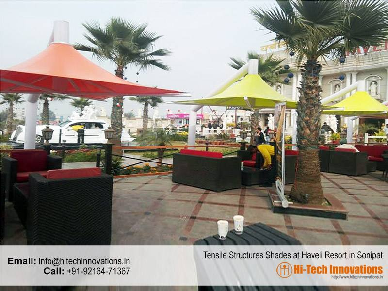 Tensile Structure Shades for Resorts
