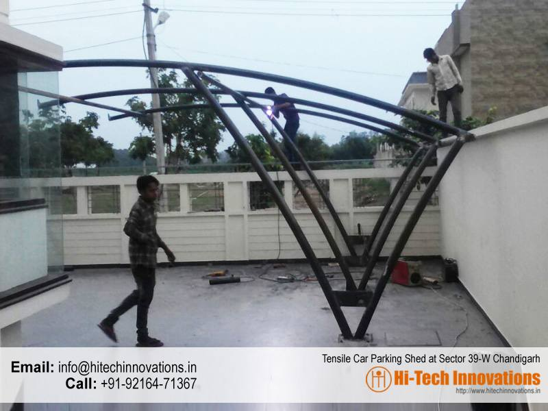 Tensile Car Parking Shed at Sector 39 West Chandigarh