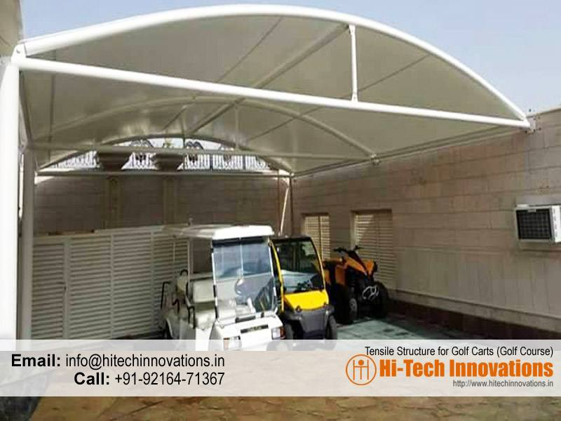 Tensile Structure to keep Golf Carts in Golf Course