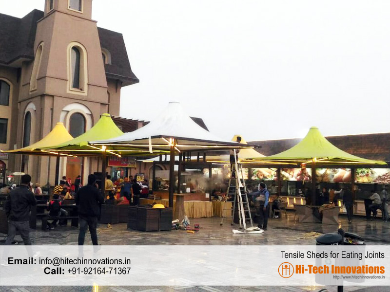 Tensile Shed for Eating Joints outside a Restaurant