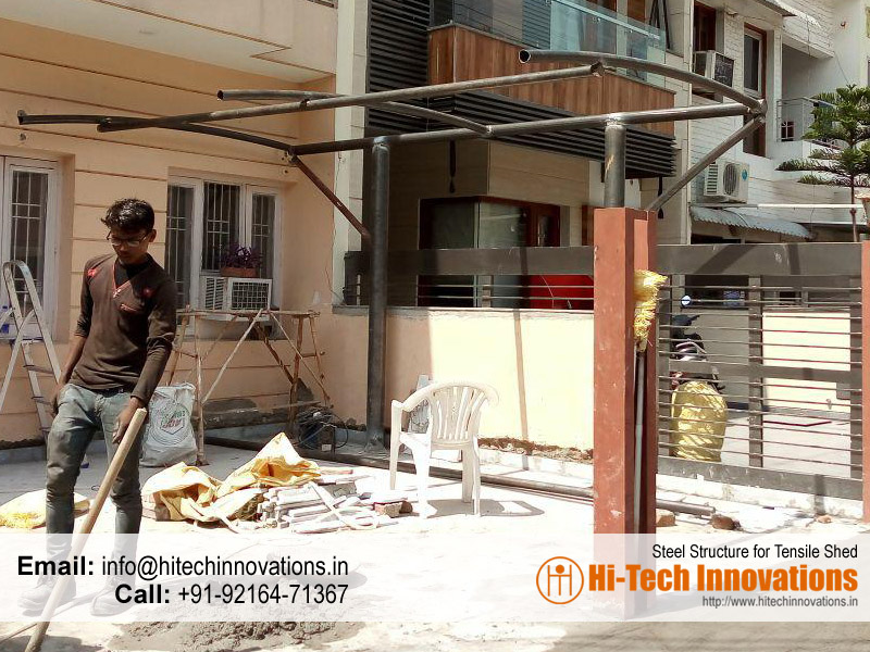 Steel Structure for Tensile Sheds , Chandigarh, Mohali, Panchkula