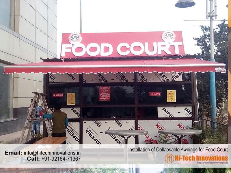 Collapsible Awnings for Food Court