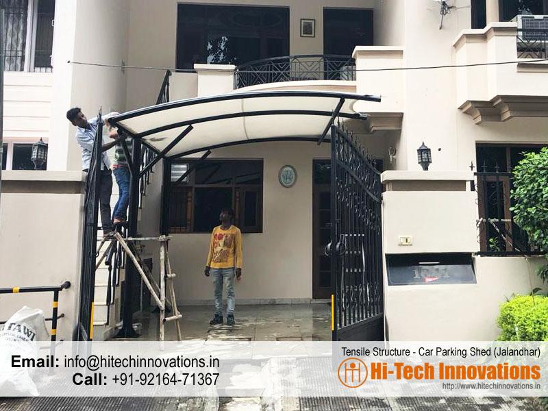 Tensile Structure Car Parking Shed in Jalandhar