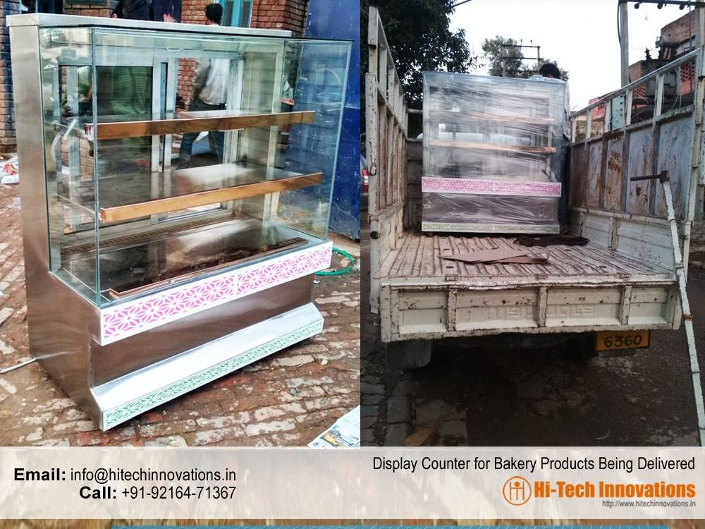 Display Counter for Bakery Products Being Delivered