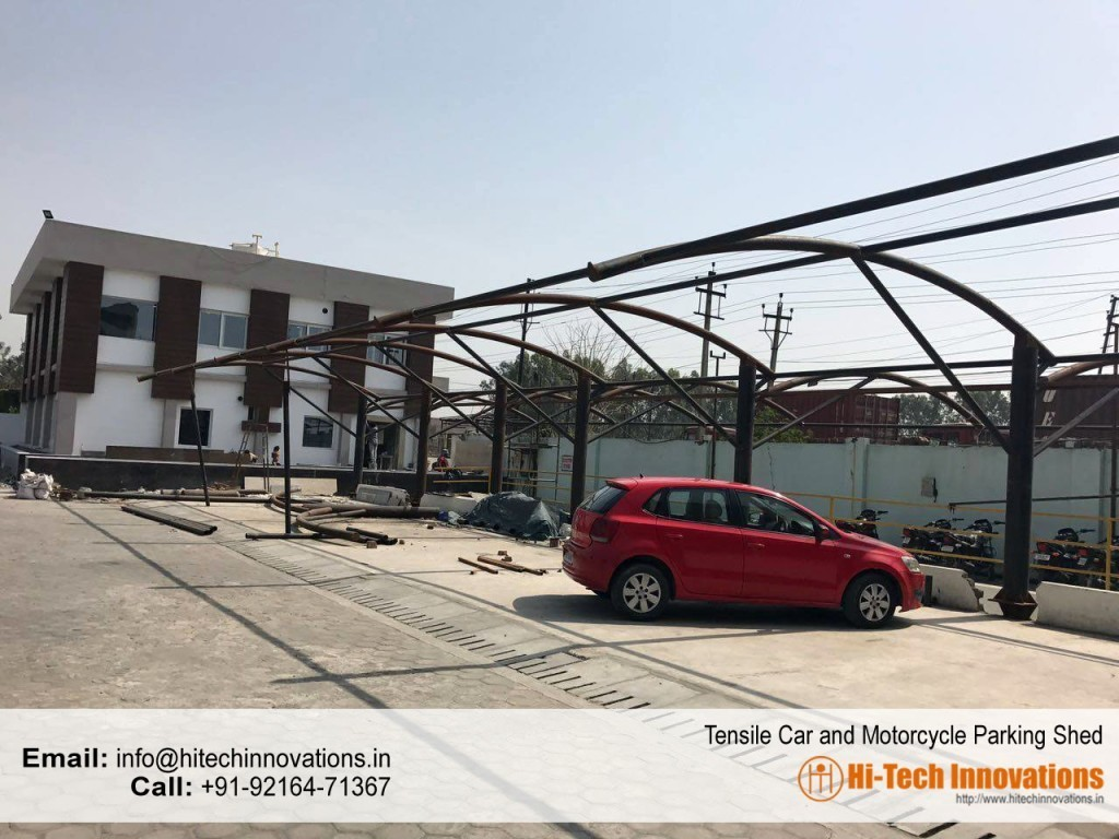 Tensile multiple car parking structure