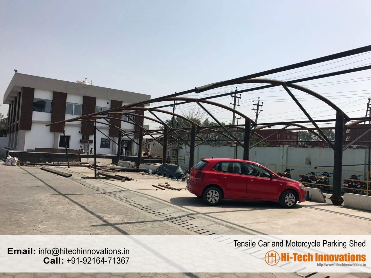 Tensile Multiple Car Parking Structure
