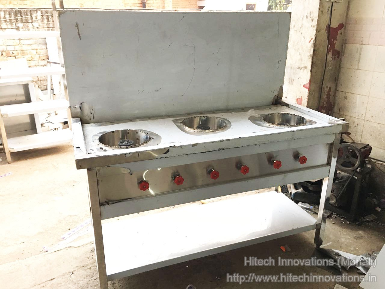 Three Burner Stove for Commercial Kitchen at our Factory