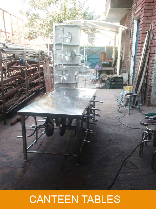 Stainless Steel Canteen Table Ready at Our Factory