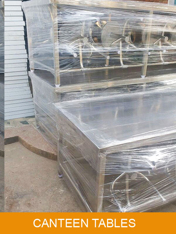 Canteen Tables Manufactured and Ready For Delivery to our Client in Delhi