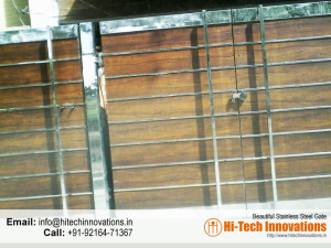 Steel Gate with Wood (Code 04-1482016)