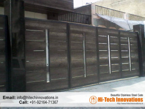 Iron Gate with Wood (Code 2-1482016)