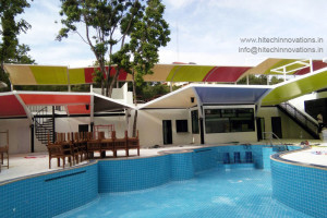 Tensile Shed / Structure at a Swimming Pool at Pattaya Thailand