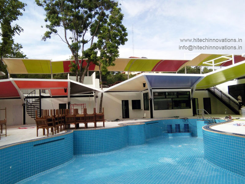 Completed Tensile Shed at Swimming Pool