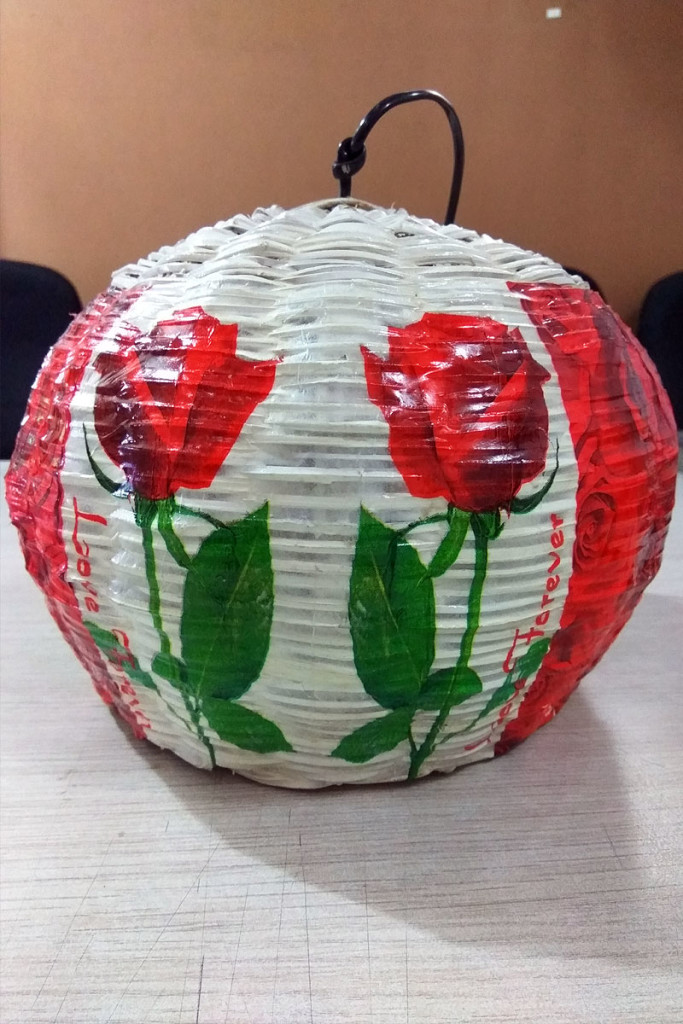 Hand-Painted-Rose-Lamp-Shade