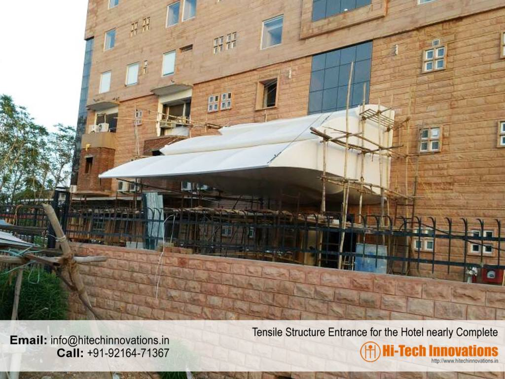 Completed Tensile Structure for Entrance