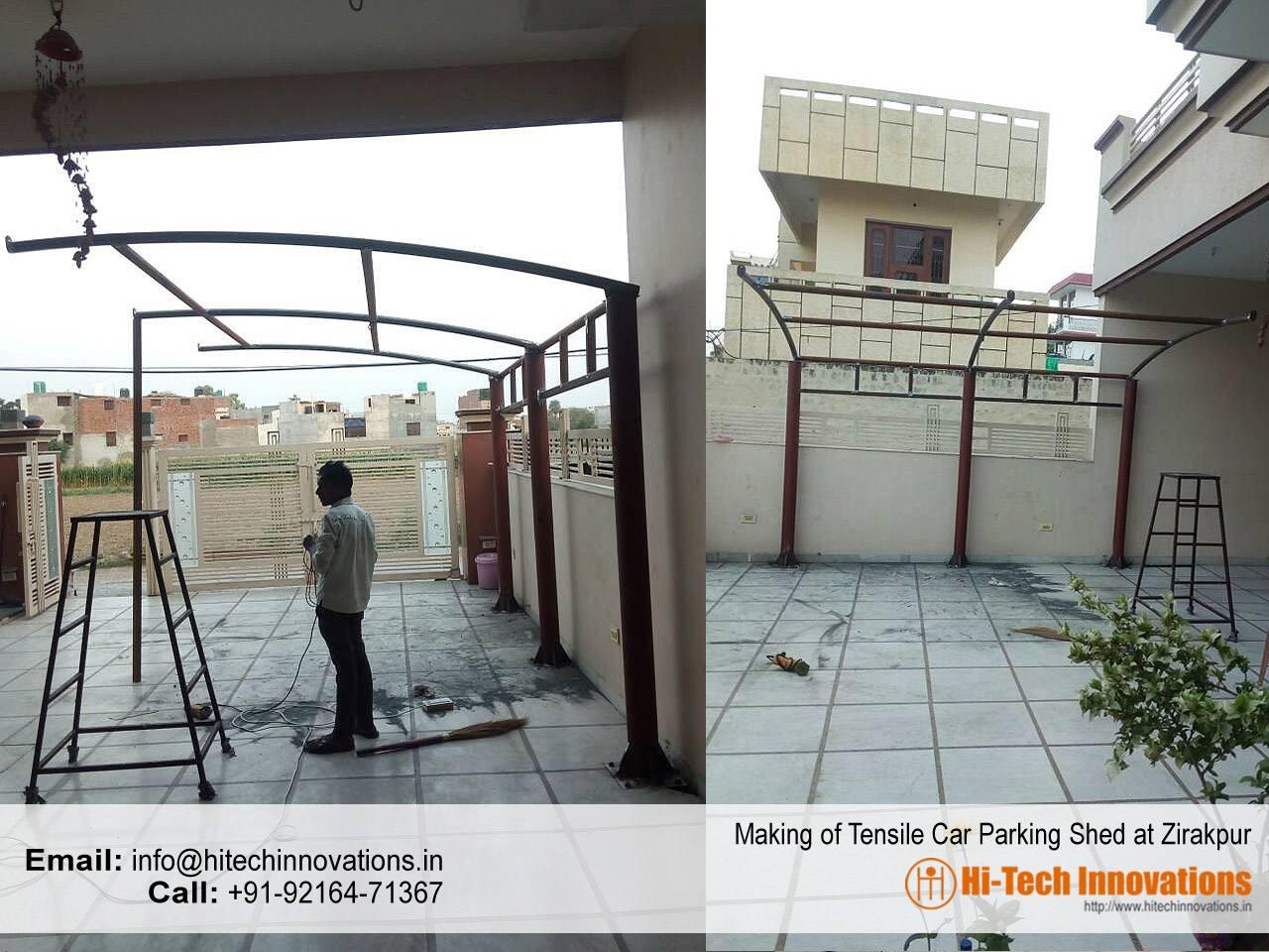 Tensile Car Parking Shed Zirakpur
