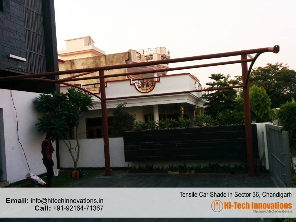 Tensile Car Parking Shade Sector 36 Chandigarh (Other View)
