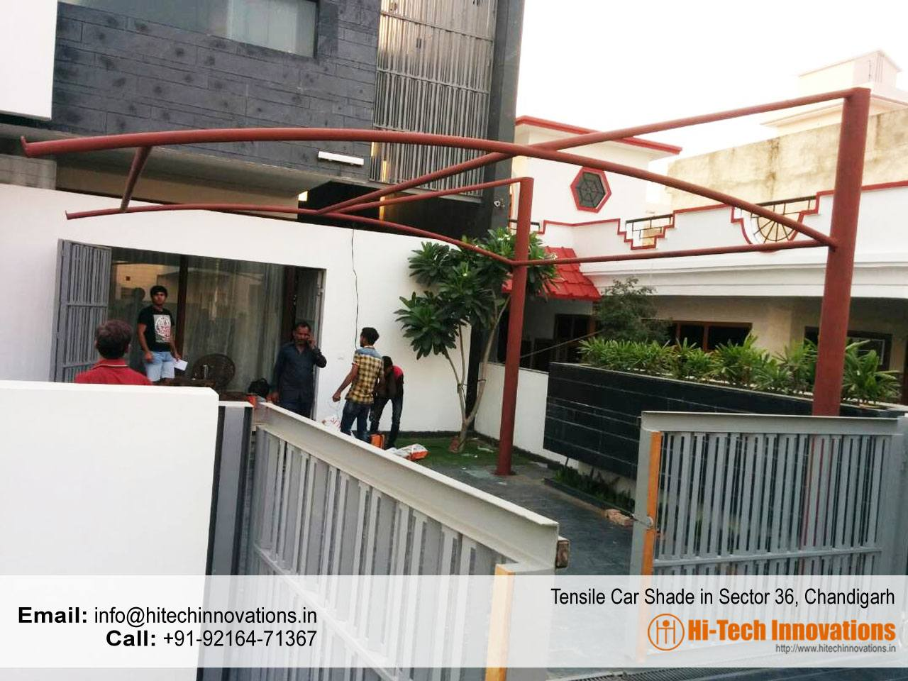 Tensile Car Parking Shade Sector 36 Chandigarh