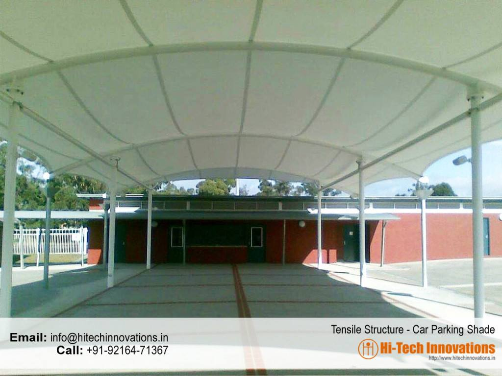 Tensile Structure Car Parking Shade Mohali