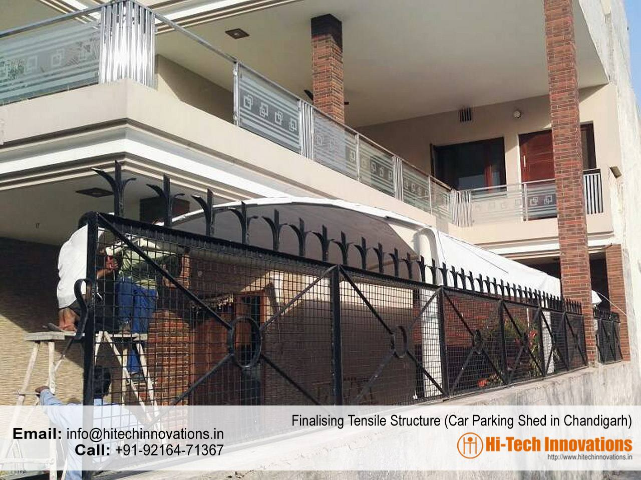 Finalizing Tensile Structure in Chandigarh