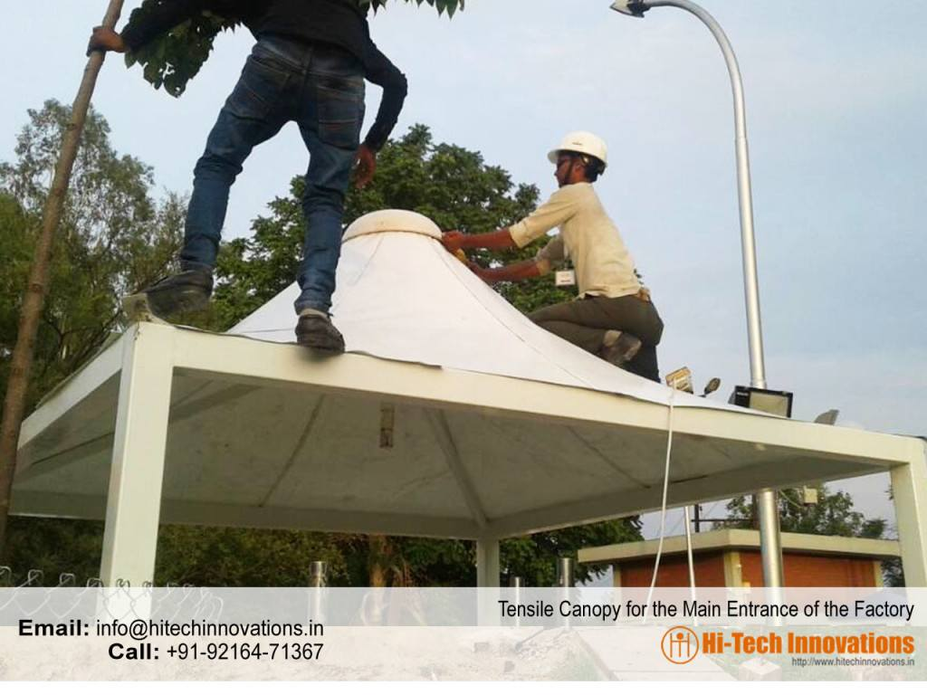 Tensile (structure) Canopy for Factory Entrance