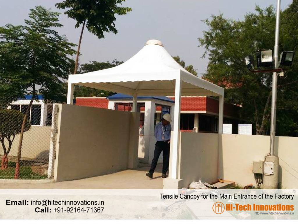 Tensile-canopy-for-factory-entrance
