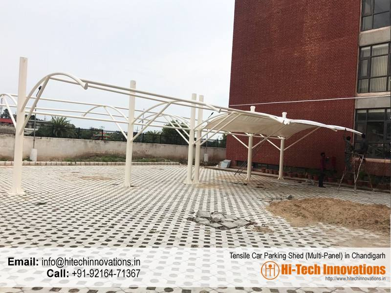 Tensile Car Parking Shade for Multiple Cars in Chandigarh